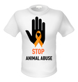 Tshirt animal abuse