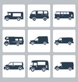 vans side view icons set vector image