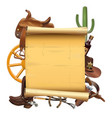western scroll vector image vector image