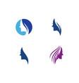 women face silhouette logo vector image vector image