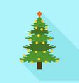 xmas fir tree icon flat style vector image vector image