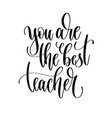 you are the best teacher - hand lettering vector image