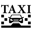 black taxi icon vector image