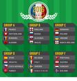 2016 European Football Tournament vector image