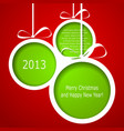 Abstract green Christmas balls vector image