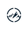 abstract three mountain logo icon vector image vector image