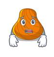 afraid hard shell mascot cartoon vector image vector image