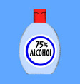 alcohol sanitizer pandemic concept antiseptic vector image