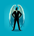 an angel as a businessman vector image