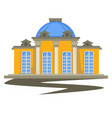 architecture building with columns and dome vector image