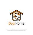 beauty dog home logo design puppys house cartoon vector image vector image