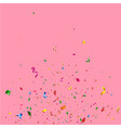 birthday confetti on pink background vector image vector image