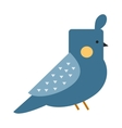 Blue funny canary serinus canaria cute domestic vector image