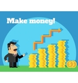 Business life make money concept vector image vector image