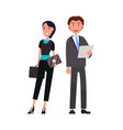business people elegant woman with briefcase and vector image vector image