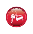 button car shaped keychain icon vector image vector image