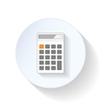 Calculator flat icons vector image vector image