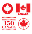 canada day 150 graphics vector image