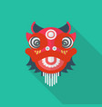 chinese red lion in flat style vector image vector image