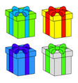 christmas box gift icon set symbol design vector image