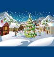 christmas season vector image