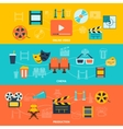 Cinema horizontal banners set vector image