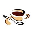 cup freshly brewed espresso coffee vector image vector image
