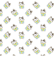 Cute Cartoon Cats Pattern vector image vector image