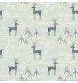 Deer in winter pine forest vector image