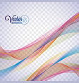 elegant flowing color wave design on transparent vector image vector image