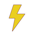 energy hazard sign to electrical warning vector image vector image