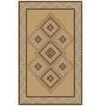 Ethnic rug with yellow and brown shades vector image vector image
