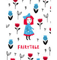 fairytale poster vector image vector image