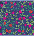 floral design with flourishing and foliage pattern vector image vector image