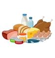 Food composition isolated on white Set of food vector image vector image