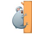 funny cute crazy cartoon characters panda vector image vector image