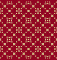 gold and red geometric seamless pattern vector image vector image