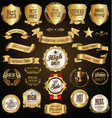 golden retro sale badges and labels collection vector image vector image