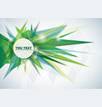 green abstract background pattern vector image