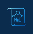 h2o document colored chemistry icon vector image