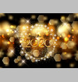 happy new year background with bokeh lights and vector image vector image
