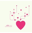 Heart with intersecting curved lines vector image vector image