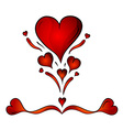 hearts isolated on the white vector image vector image