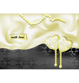 holiday background with white silk vector image vector image