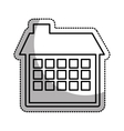 house esterior isolated icon vector image