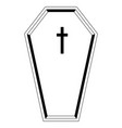 isolated black coffin icon vector image vector image