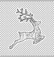 jumping deer sticker ornate vector image vector image