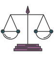 justice balance isolated icon vector image vector image