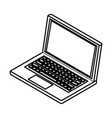 laptop icon cartoon black and white vector image vector image