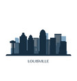 louisville skyline monochrome silhouette vector image vector image